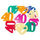 """Confettis XXL """"40 ans multicolores"""" 12 pcs."""