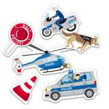 "Confettis XXL ""Police"" 24 pièces"
