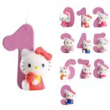 "Bougie chiffre ""Hello Kitty"" 9 cm"