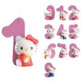 "Bougie chiffre ""Hello Kitty"" 9 cm"