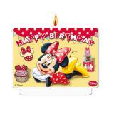 "Bougie chiffre ""Minnie Mouse"" Happy Birthday 7 x 9 cm"