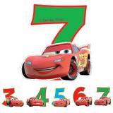 """Bougie à chiffre """"Disney Cars"""" 6 cm"""