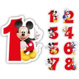 """Bougie à chiffre """"Mickey et ses amis"""" 6 cm"""